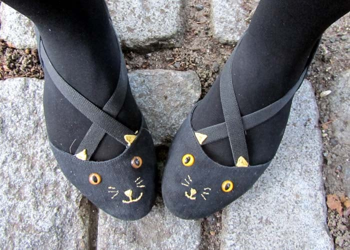 Charlotte Olympia Inspired Cat Flats