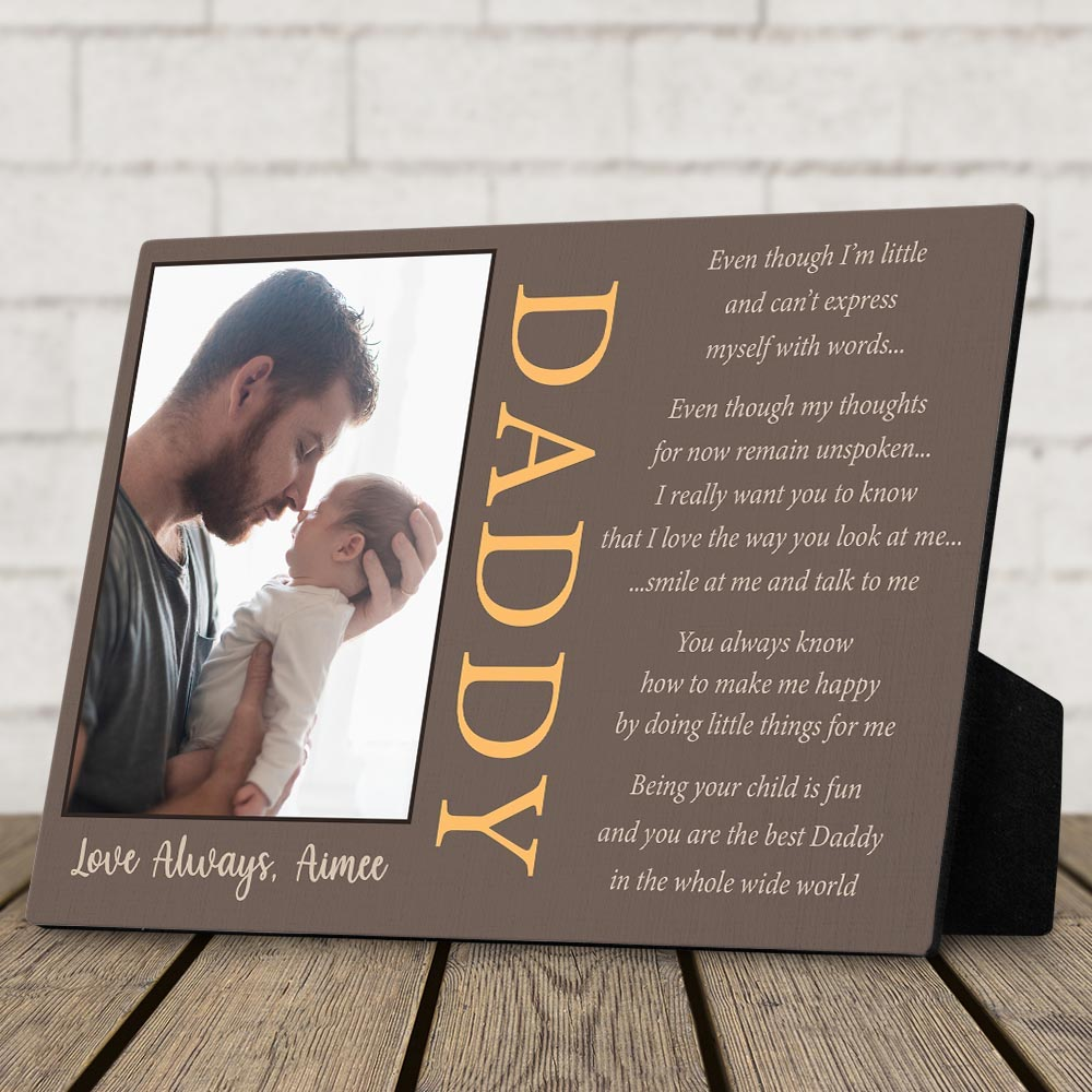 Custom Photo Desktop Plaque- best gift for dad to do with son