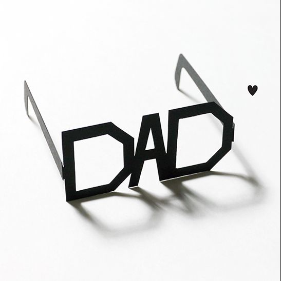 Dad Typography Glasses