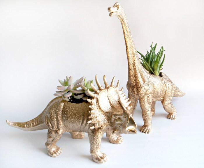 Dinosaur Planter- gift ideas for dad diy