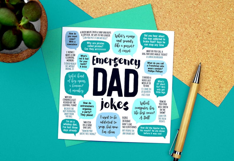 Emergency Dad Jokes Card- great Father's Day card ideas