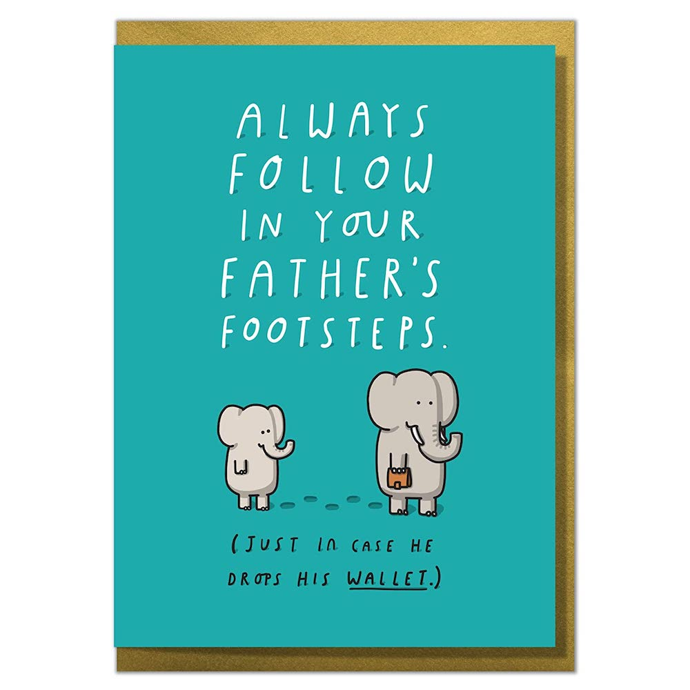 Fathers Footsteps Card cute Fathers Day card ideas