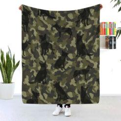 German Shepherd Camouflage Blanket