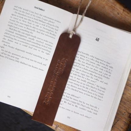 Handmade Leather Bookmark