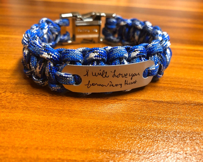 Handwriting Bracelet gifts for dad who lost baby