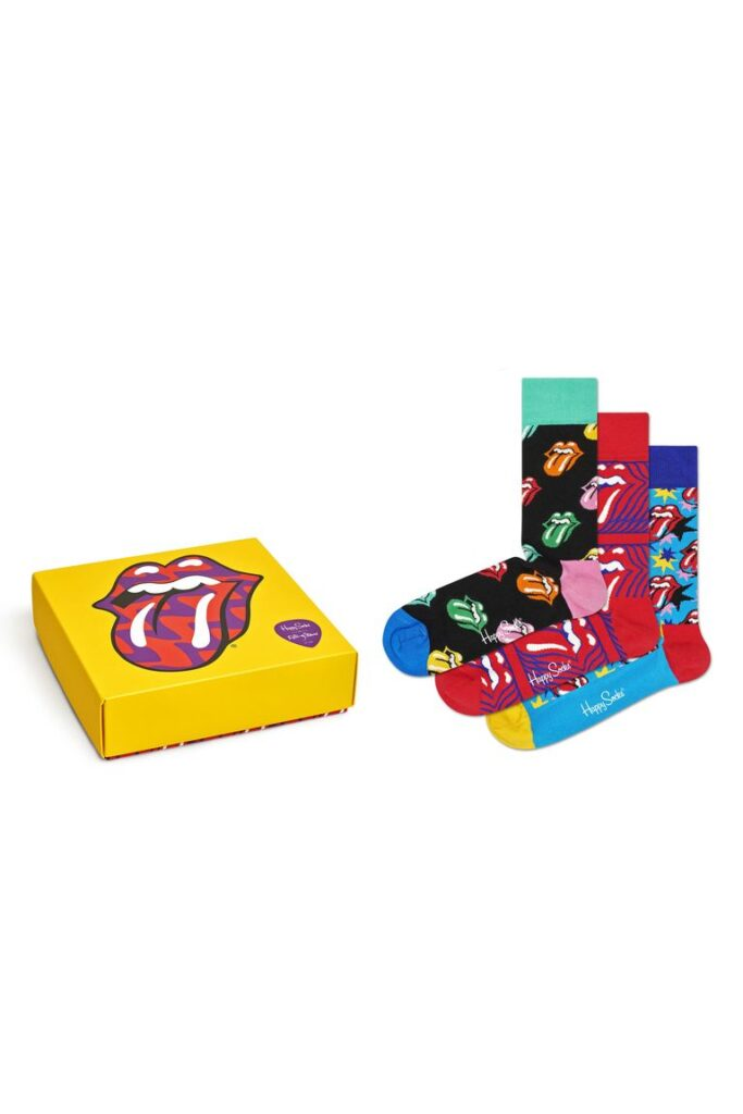 Happy Socks x Rolling Stones Assorted 3-Pack- last minute Fathers Day gifts