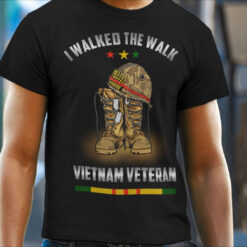 I Walked The Walk VietNam Veteran Shirt mock