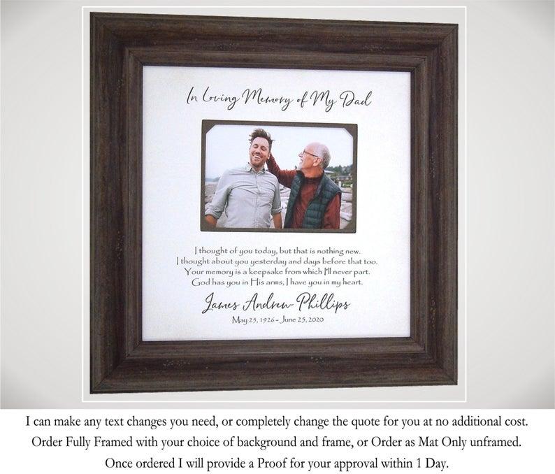 In Memory Of Frame