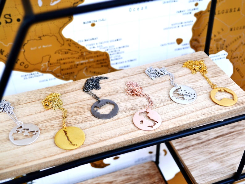 India Map Necklace - Gifts For Dad Who Has Everything India