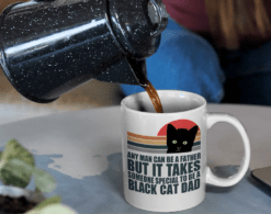 It Takes Someone Special To Be A Black Cat Dad Mug