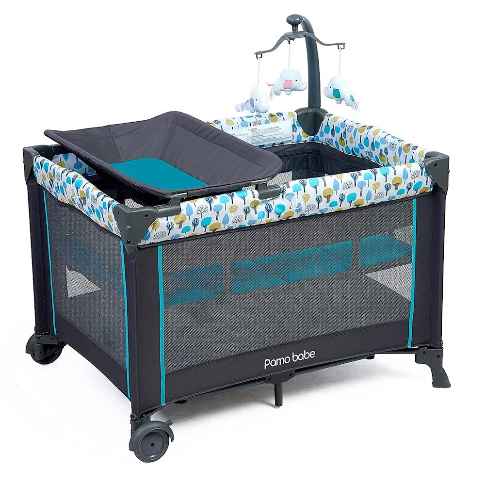 Kidsry Portable Play Yard with Mattress and Changing Station- best new grandad gifts.
