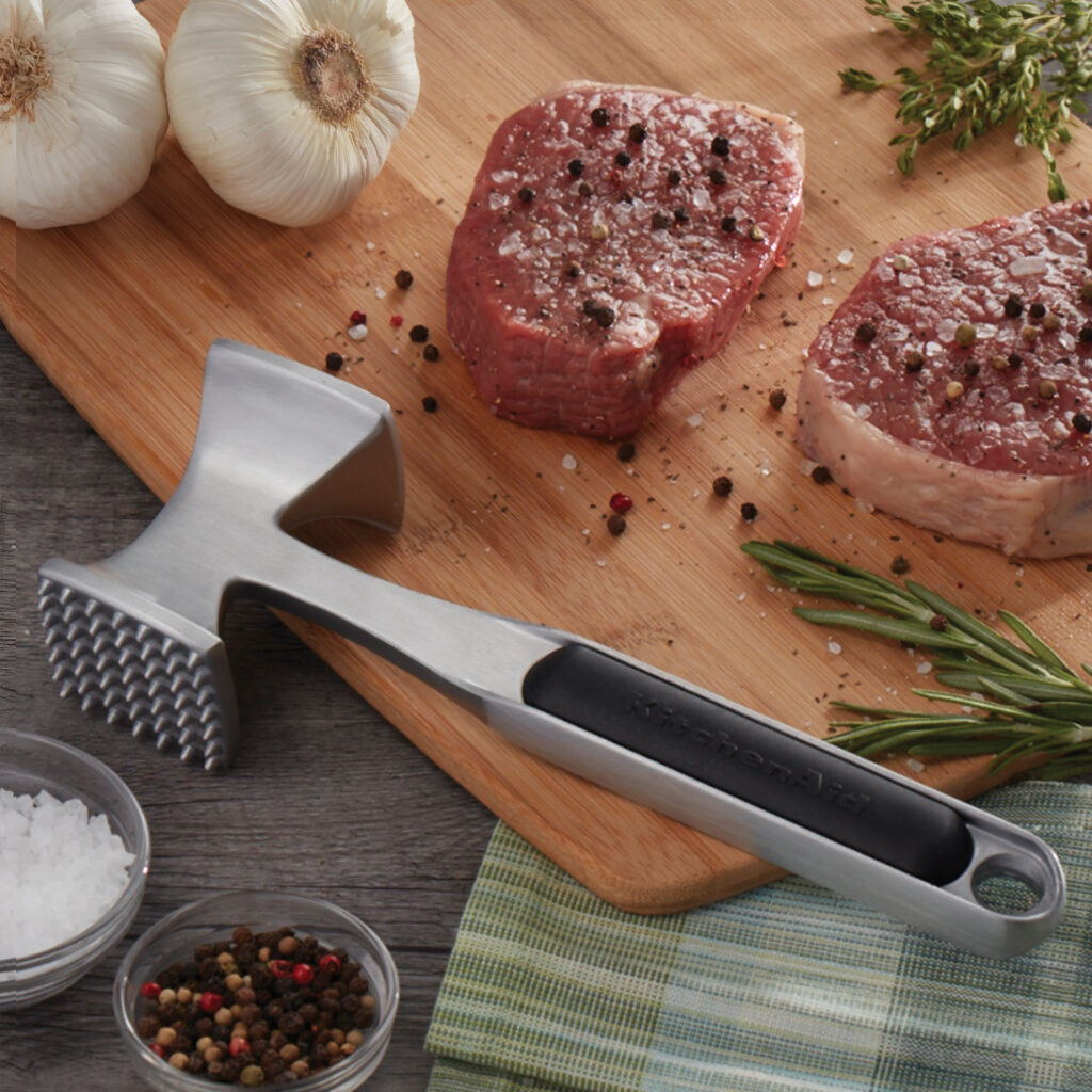 KitchenAid Dual-Sided Meat Tenderizer- cool grilling gifts for dad