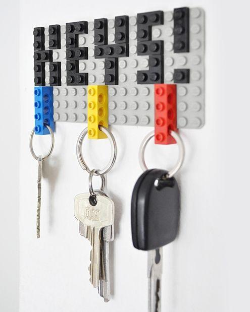 Lego Key Organizer- great gift for dad diy