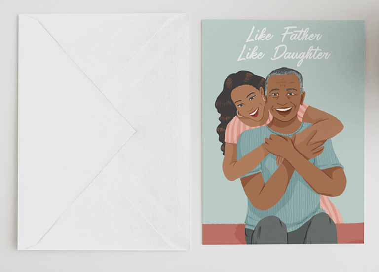 Like Father, Like Daughter Greeting Card- cool Father's Day card ideas
