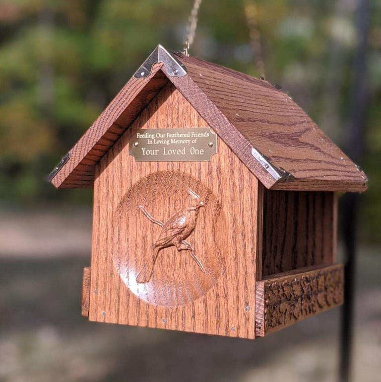 Memorial Bird Feeder- gift for groom whose dad passed.