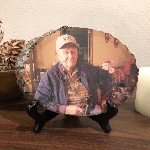 Memorial Photo on Wood 1