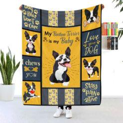 My Boston Terrier Is My Baby Blanket