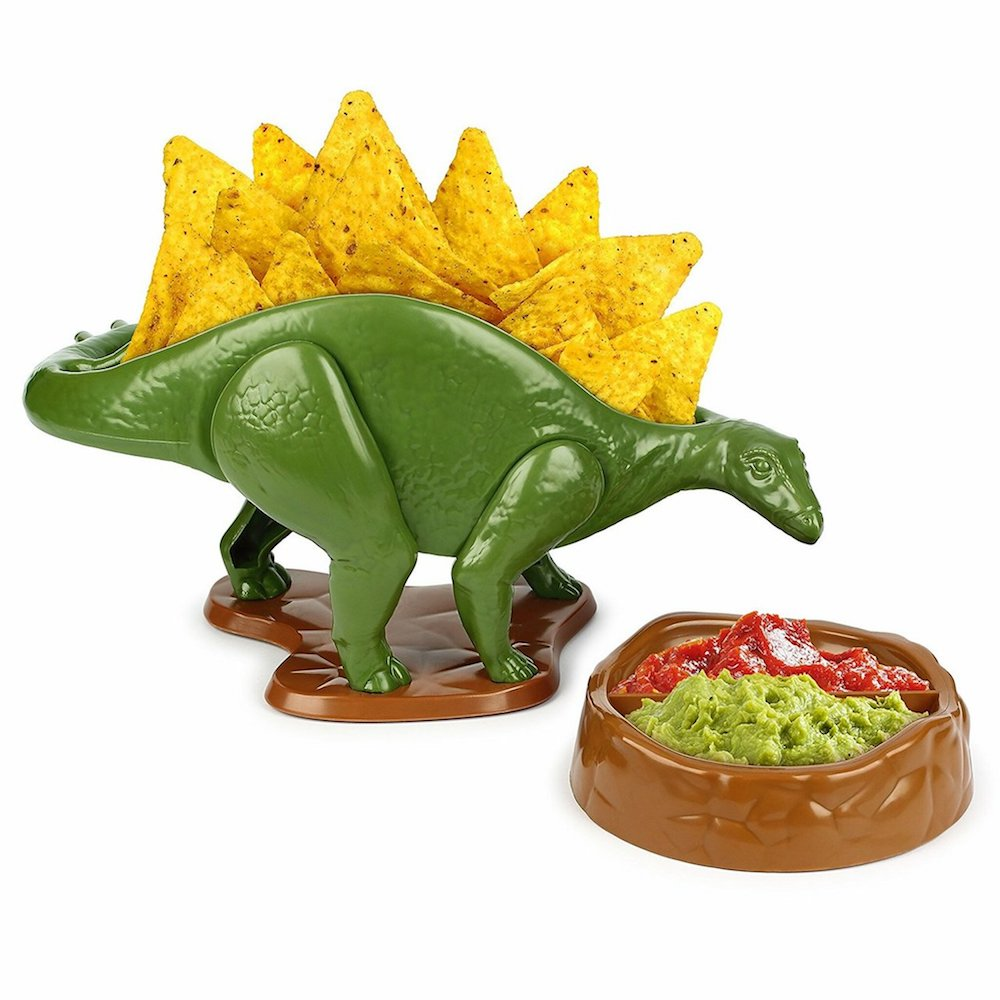 NACHOsaurus Dip and Snack Dish Set- cool gift for dad who has everything amazon.