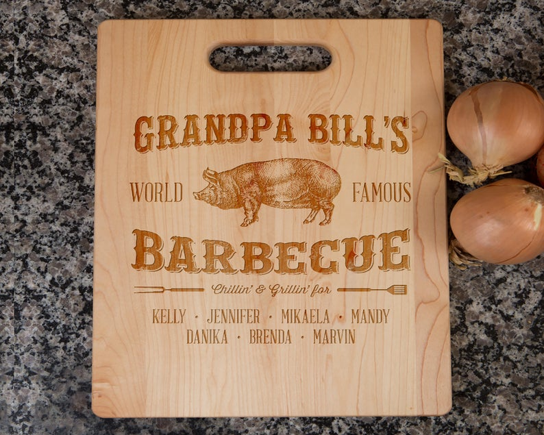 Name Cutting Board- best new grandad gifts.