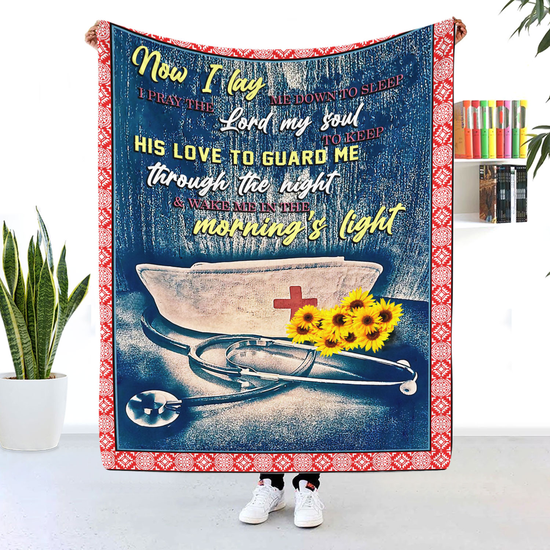 Nurse Now I Lay Me Down To Sleep Blanket