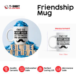 Only The Best Dads Get Promoted To Grandpa Mug Mustache Dad