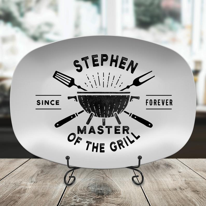 Personalized BBQ Grilling Plate- best grilling gifts for dad.jpg