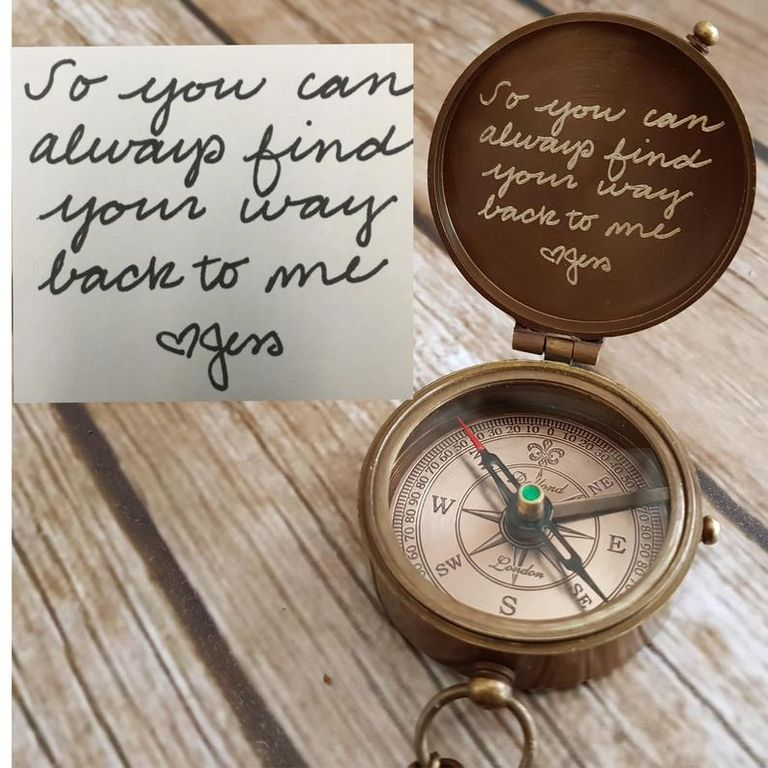 Personalized Vintage Compass