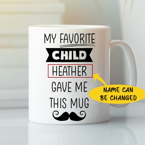 Personalized fathers day mug ideas are a great option