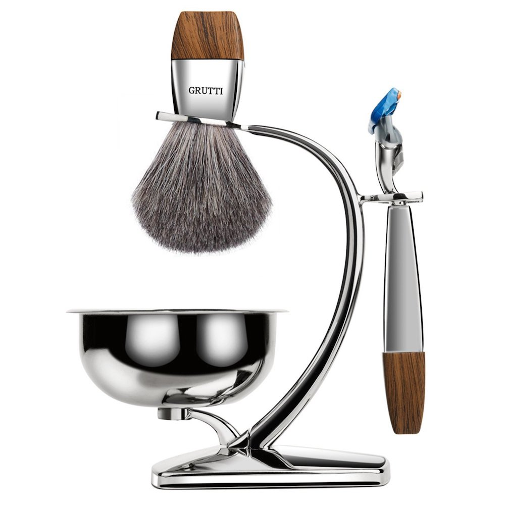Premium Shaving Brush Set- cool gift for dad who has everything amazon.