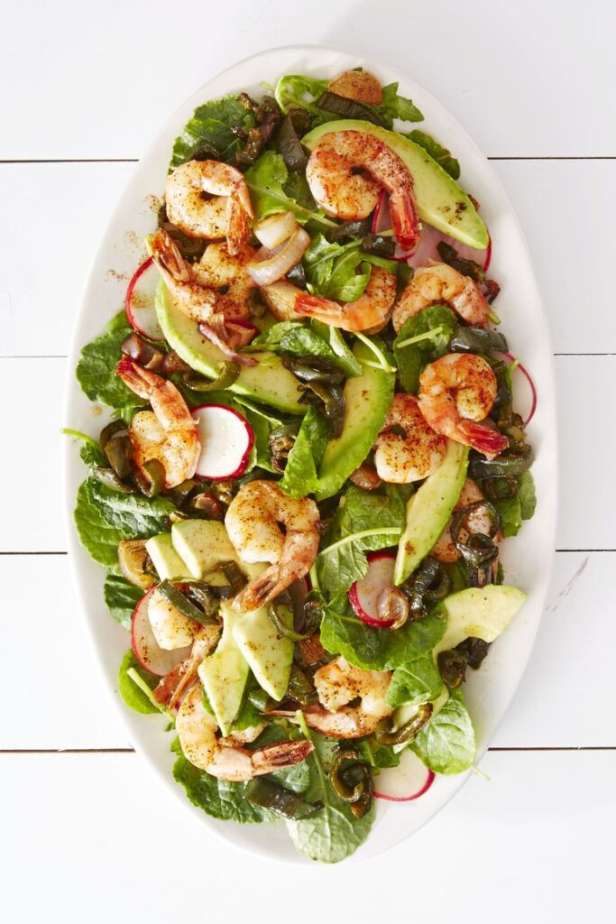 Roasted Shrimp Poblano Salad