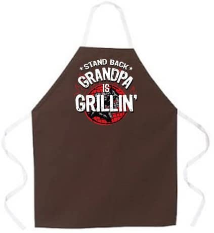 """""""Stand Back, Grandpa is Grilling"""" Apron- best new grandad gifts."""