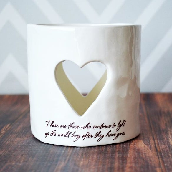 Sympathy Heart Candle
