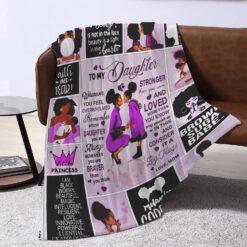To My Daughter Black Girl Blanket