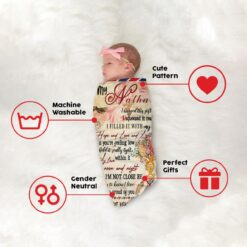 To My Daughter DNA Tree Of Life Personalized Blanket
