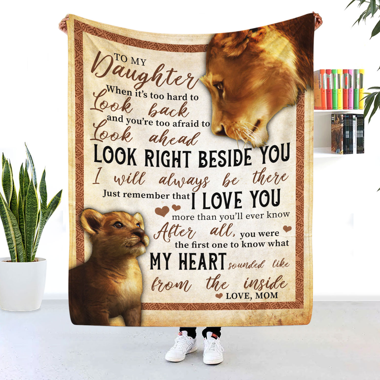 To My Daughter My Heart Sounded Like From The Inside Blanket