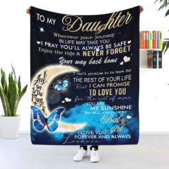 To My Daughter Never Forget Your Way Back Home Blanket