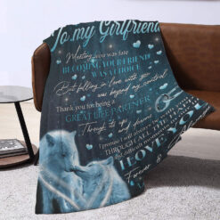 To My Girlfriend Thanks For Being My Great Life Partner Blanket