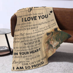 To My Great Grandson Always Remember I Love You Horse Blanket
