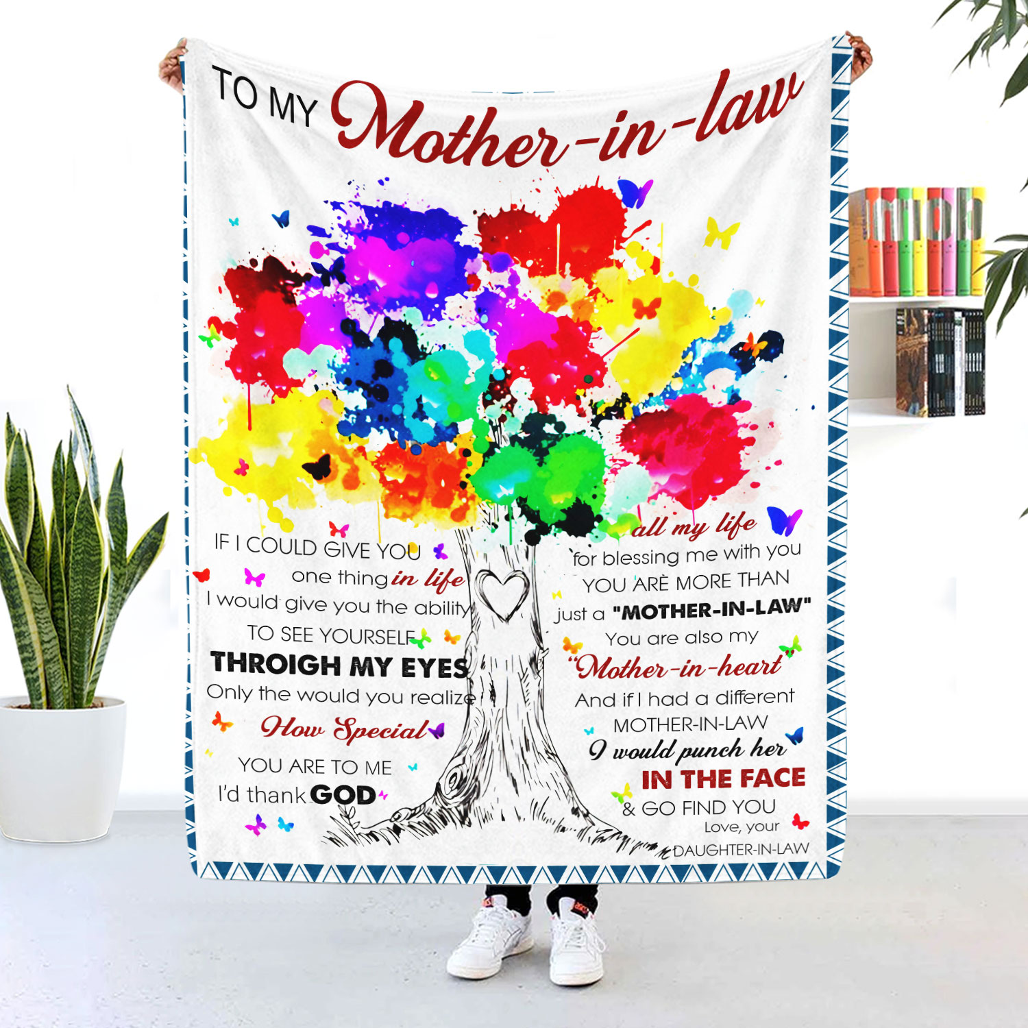 To My Mother In Law You Are Also My Mother In Heart Blanket