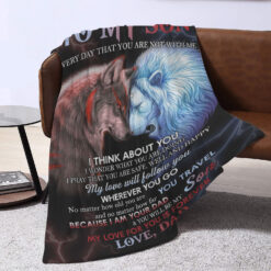 To My Son Lion Blanket