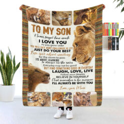 To My Son Never Forget I Love You Lion Blanket