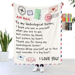 To My Unbiological Sister Air Mail Blanket