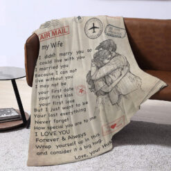 To My Wife Air Mail Blanket