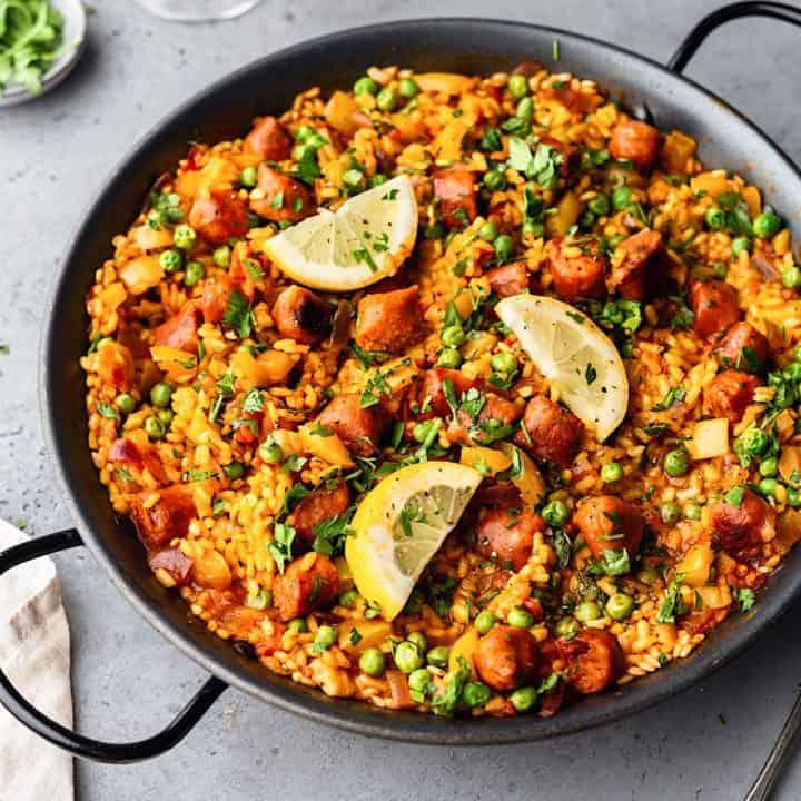 Vegan Chorizo Paella 720x720 1