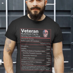 Veteran Nutrition Facts Shirt