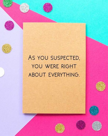 You Were Right Card- fun Father's Day card ideas