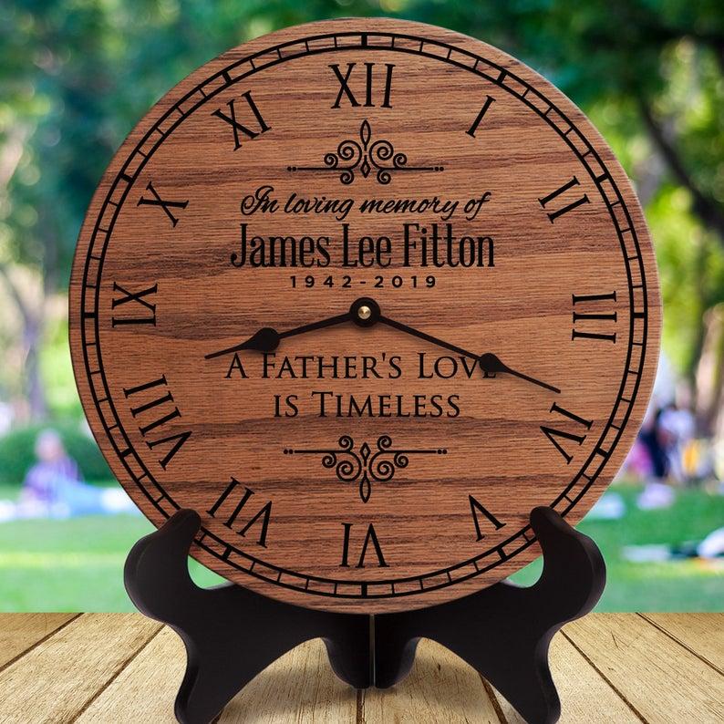 dad memorial clock