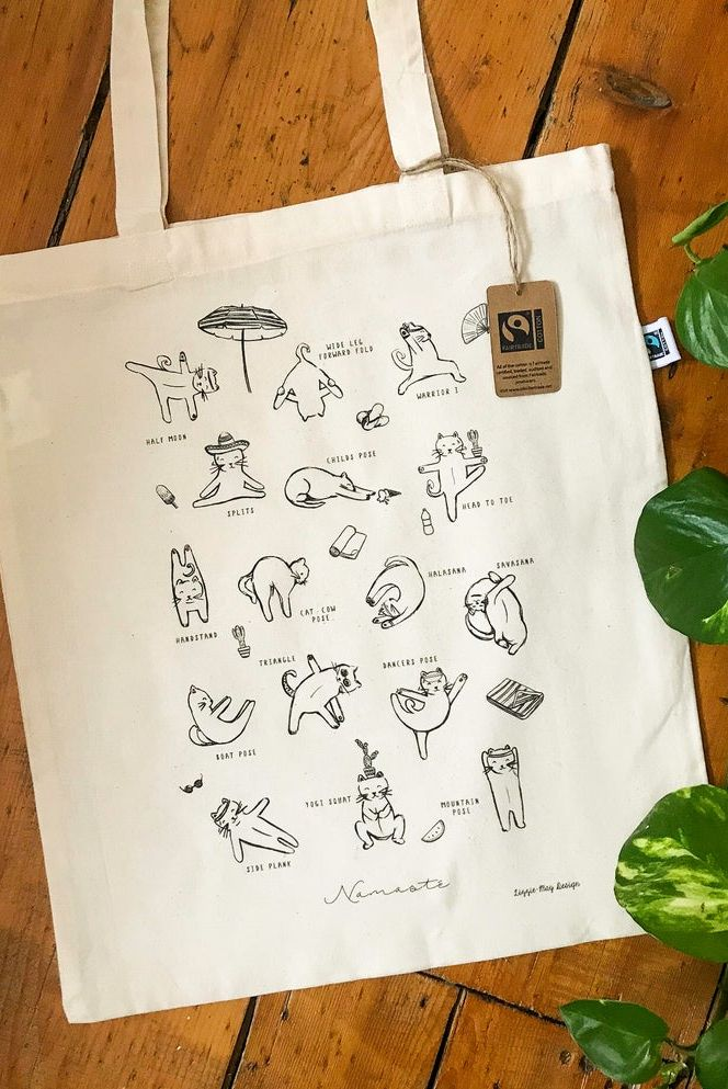 gift for cat lover Yoga for Cats Tote Bag