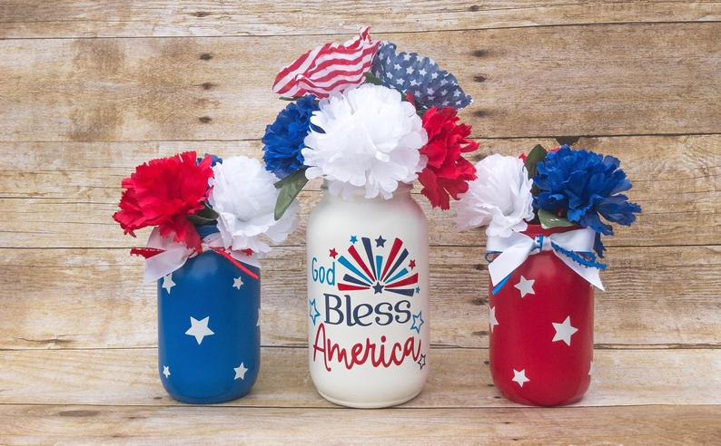 4th Of July Party Decor- best Independence Day gift for mom.