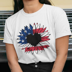 4th Of July Sunflower American Flag Shirt